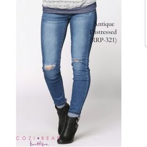 Skinny Distressed Boutique Denim Jeans
